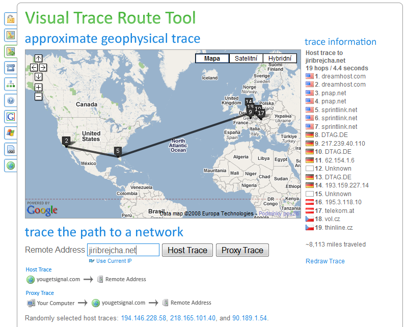 Traceroute Visual Bing Images