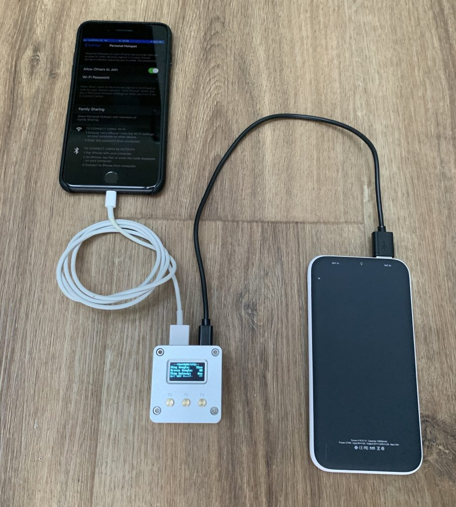 iPhone USB tethering to WLAN Pi